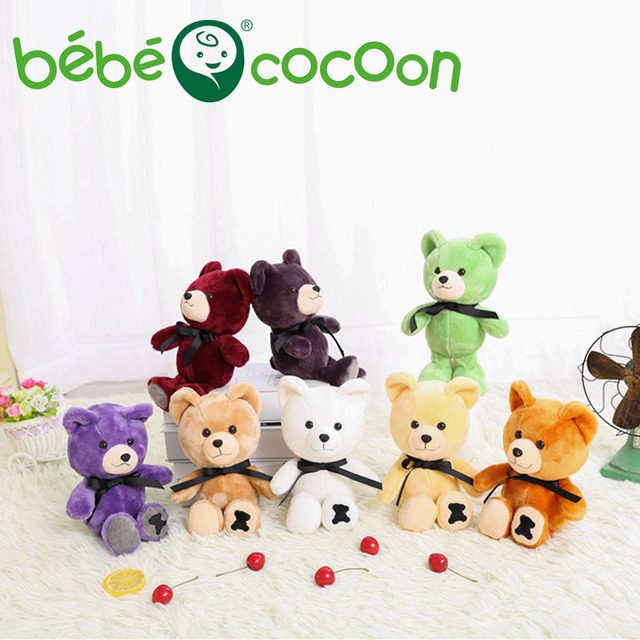bebecocoon 25CM Soft Teddy Bears Plush Toys Stuffed Animals Bear Dolls with Bowtie Kids Toys for Kids Birthday Gifts Set Party