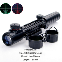 Hunting 3 9x32EG Riflescope Red Green Illuminated Sniper Rangefinder Reticle Air Hunting Rifle Scope with LensCover