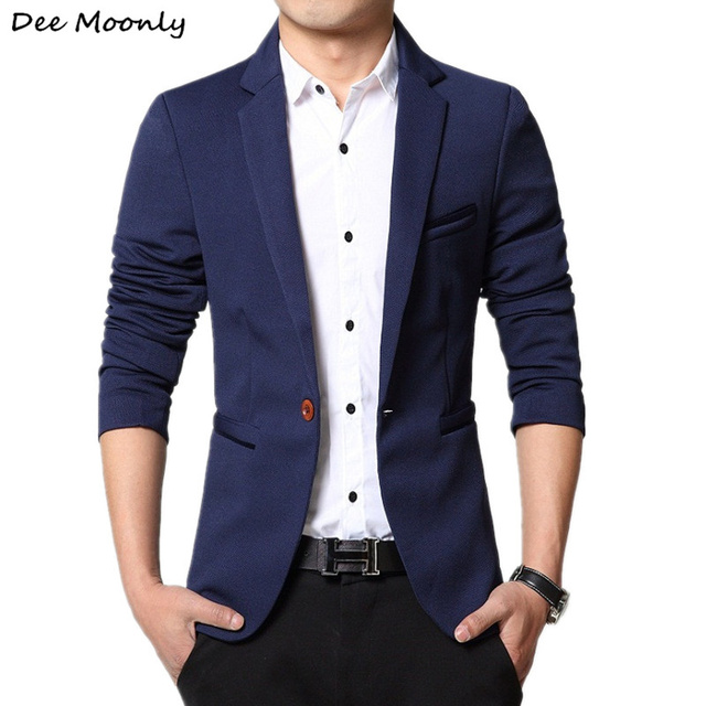 Trajes de alta calidad Trajes Para Hombre casuales Blazers slim fit moda  chaqueta de traje Botón eff3e0bf685