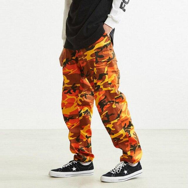 JOYINPARTY Orange pink camouflage pants-Cargo men women s shoes High  quality hip-hop Street runners Pants pair camouflage pants 9293db01456