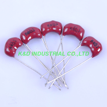 10pcs Silver MICA Capacitor 680pF 500V Radial For Audio Amp