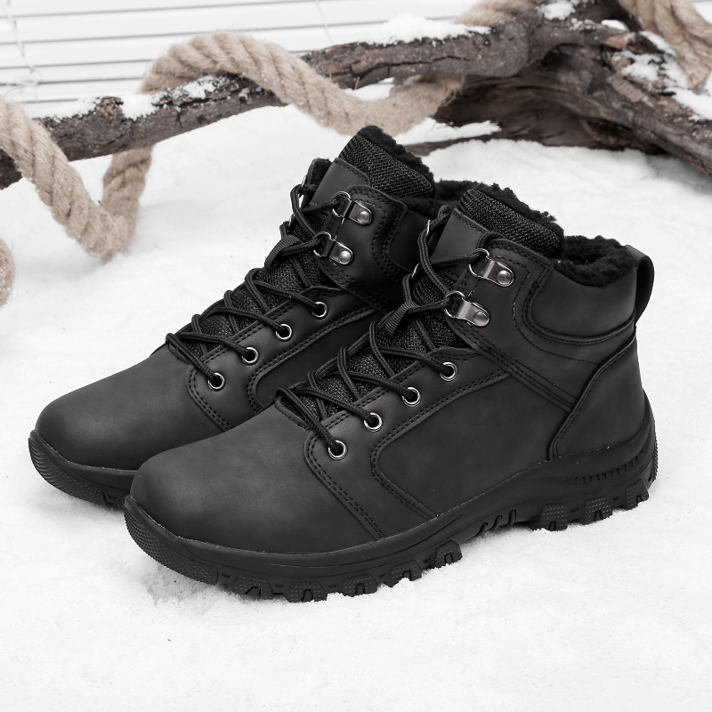 2018 new arrival hiking shoes men leather rubber Plush outdoor shoes trekking shoes man sneakers for Autumn Winter walking male 2017 new mens hiking shoes black blue walking shoes men autumn winter outdoor sport sneakers high top leather trekking shoes men