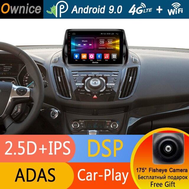 """9 """"IPS 4 グラム SIM Lte の Android 9.0 8 コア 4 ギガバイトの RAM + 32 ギガバイト ROM 車 DVD フォード久我 2013-2017 C-max GPS ラジオステレオ DSP CarPlay"""