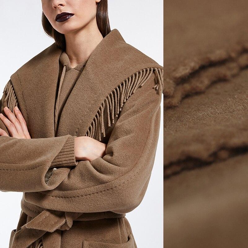 См 750 см шириной 150 г/м вес верблюд цвет СЕРЫЙ ленточки из овечьей шерсти ткань для осень зима шарф куртка платье верхняя одежда E866