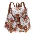 Satchel Shoulder Bag Mochila Recorrido de la Lona de Las Mujeres de la manera Ocasional Lindo de La Escuela Mochila
