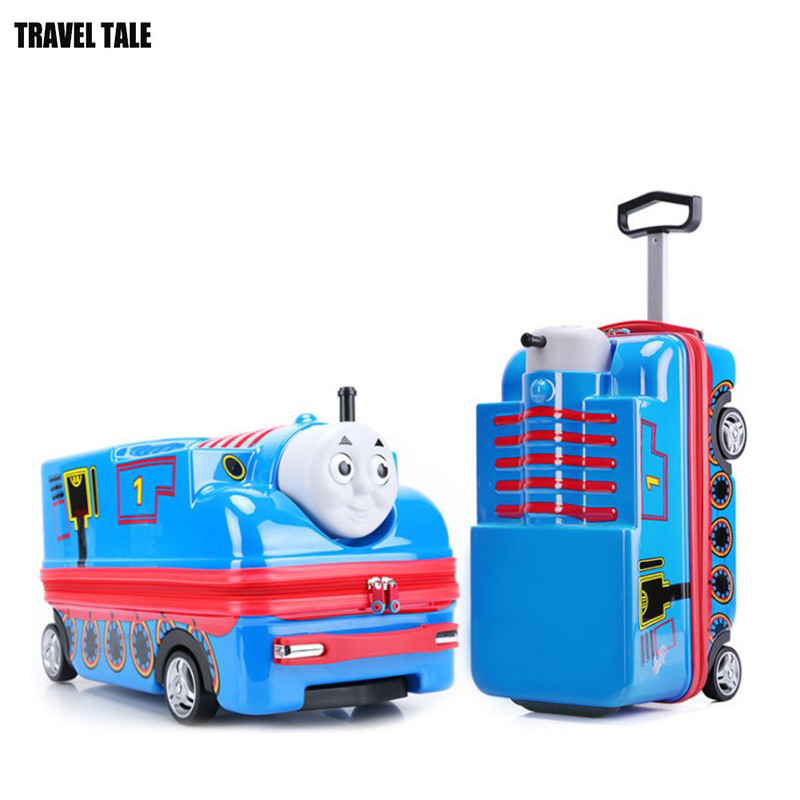 TRAVEL TALE kids car toy trolley case hard suitcase luggage child trunks carry on
