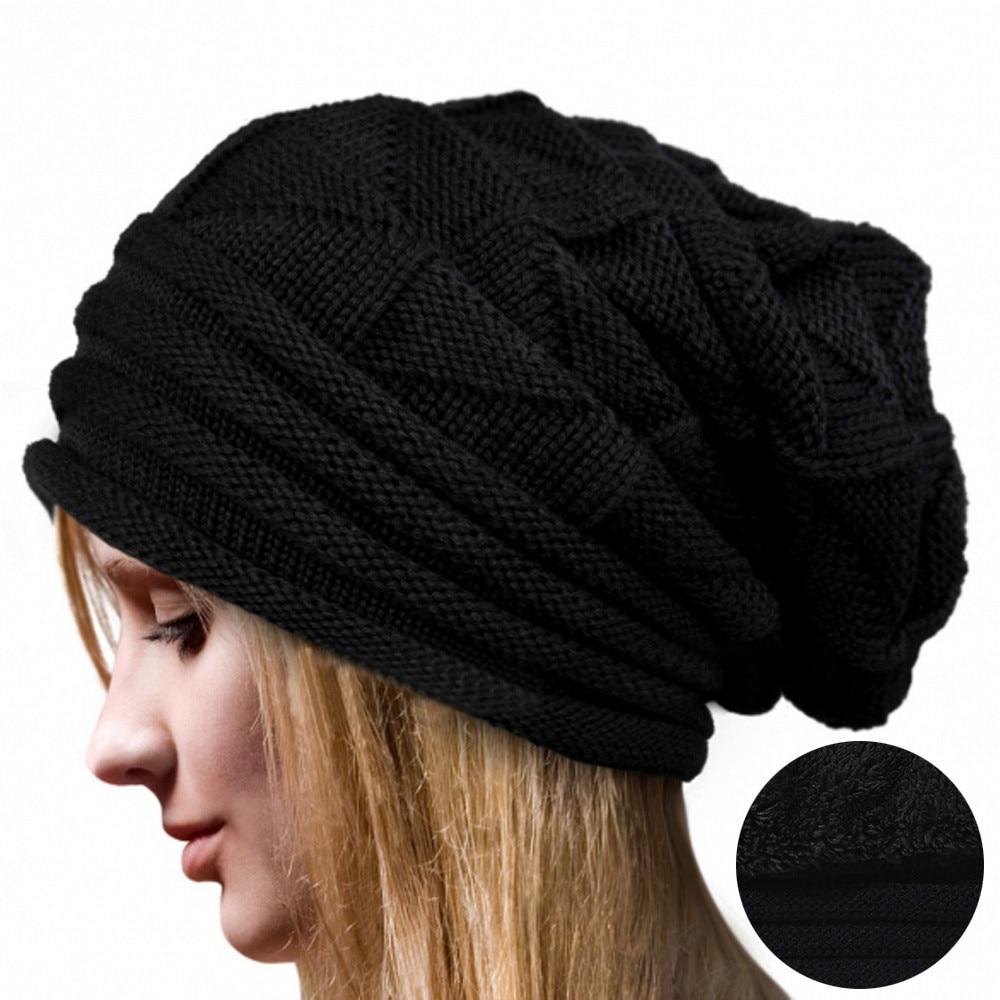 #4 DROPSHIP 2018 NEW HOT Fashion Women Winter Fluff Crochet Hat Wool Knit Beanie Warm Caps Freeship