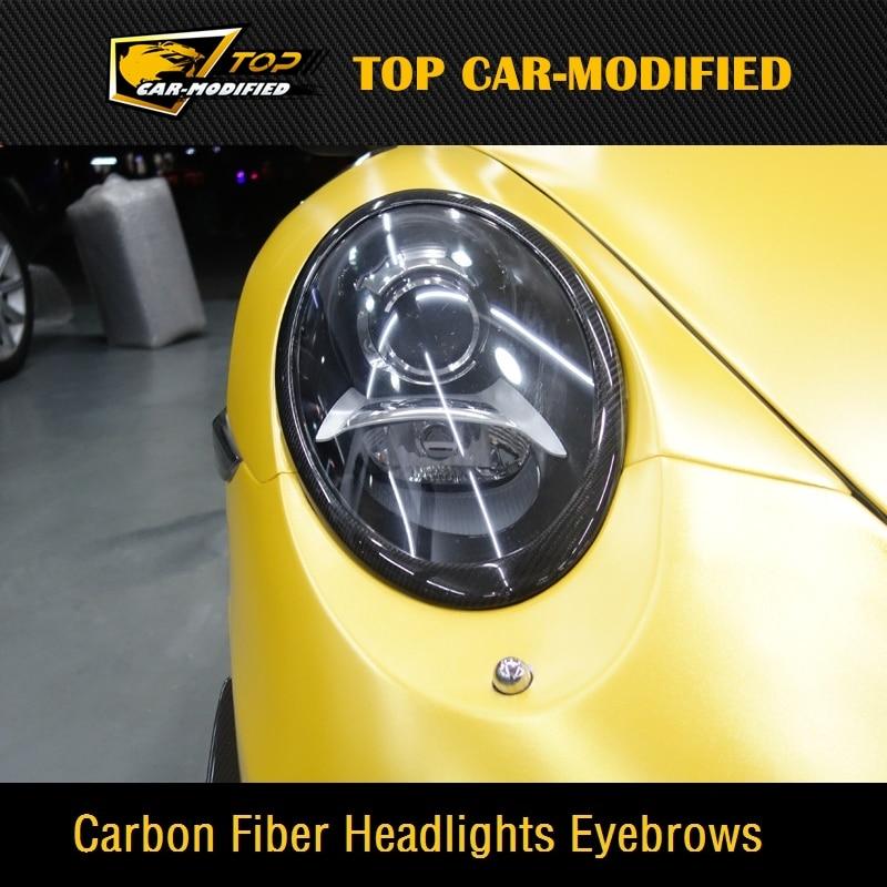 Free shipping 100% Real Carbon Fiber Headlights Eyebrows Eyelids For Porsche 911  997 free shipping carbon fiber headlight covers eyelids eyebrows fit for mazda 6 vi ruiyi 09 13