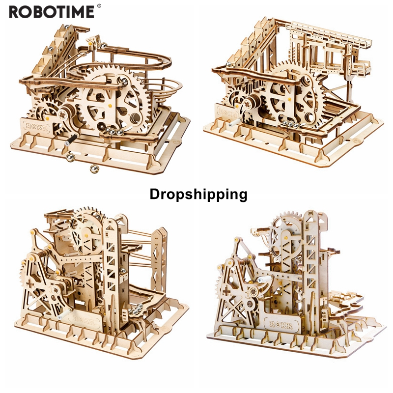 Robotime Diy 4 Kinds Wooden Marble Run Blocks with Exquisite Package For DropshippingRobotime Diy 4 Kinds Wooden Marble Run Blocks with Exquisite Package For Dropshipping
