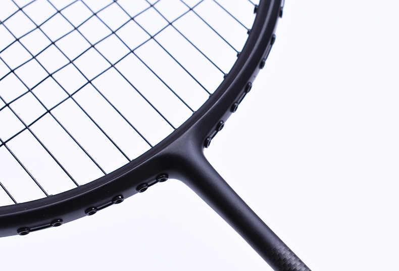 1 pc ZARSIA Attack 4U Badminton Racket 100% carbon badminton racquet Free shipping pure black badminton racket 28lbs