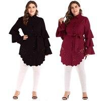 Abaya Kaftan Islam Oman Qatar UAE Cardigan Muslim Hijab Dress Jilbab Robe Dubai Caftan Abayas For Women Turkish Islamic Clothing