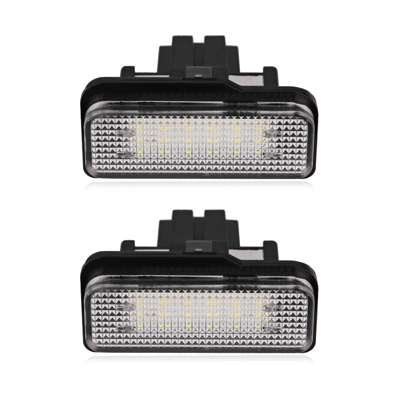 Urbanroad 2PCS Car LED License Plate Lights For Mercedes W211 W203 5D W219 R171 12V No Error for Benz White Number Plate lamp