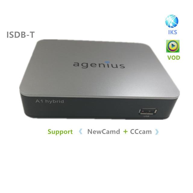 2018 New Full Hd 1080P Dvb-S2 ISDB-T Free Iks Support PlayVideo With Newcam Powervu RJ45 Wi-fi Usb Hd Receptor De Satelite