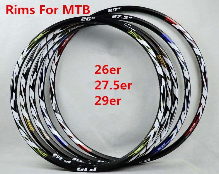 Jantes vtt VTT jantes 26/27. 5/29 pouces frein à disque jante de vélo en aluminium Tryall 24/32 trous roues cercles à Double pont