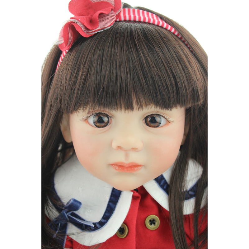 <font><b>24inch</b></font> 60cm Lifelike Reborn Princess Baby Dolls Babies Vinyl Body So Truly Girl Model For Toddler bebe Toy Birthday Gifts image