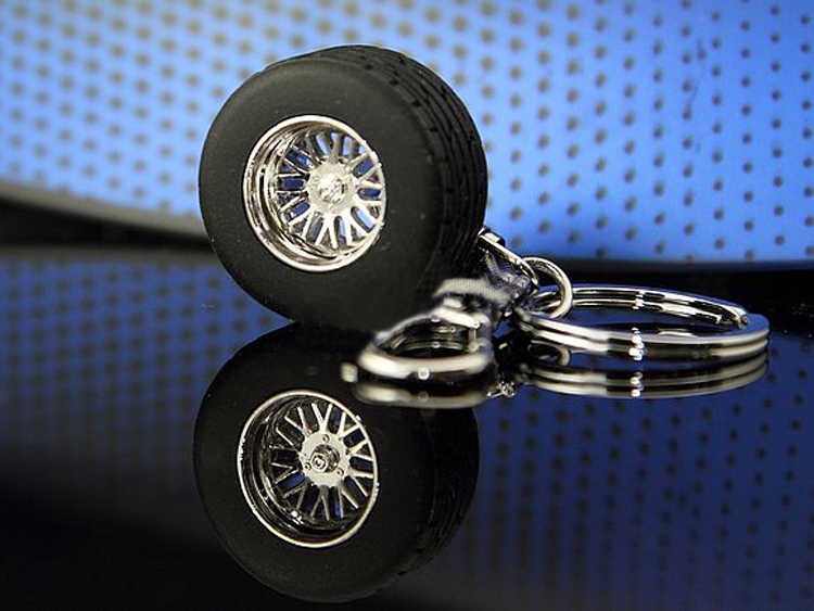 Tire 3 Cm In Diameter Trendy Charmante Sleutel Accessoires Creatieve Grappige Auto Racing Tire Modellen Sleutelhanger KEY-0035