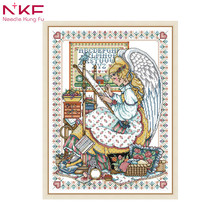 Painting Needlework Embroidery Cross Stitch Home Decor Craft,DIY DMC stitch kits,Arts People Pattern Kit-Angel