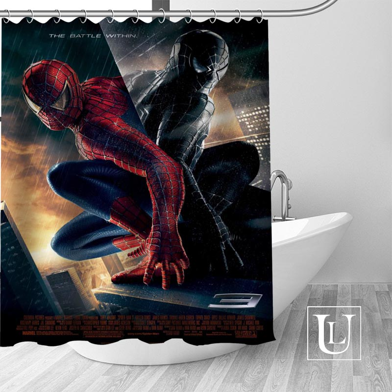 Spiderman Shower Curtains Customized Bathroom Curtain Waterproof Fabric Polyester In From Home Garden On