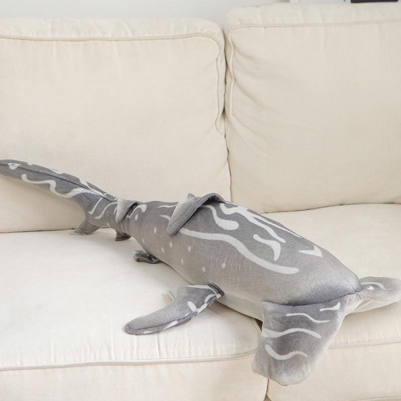 Nouveauté peluche requin marteau jouet gris mer requin marteau jouet cadeau environ 100x53 cm 2741