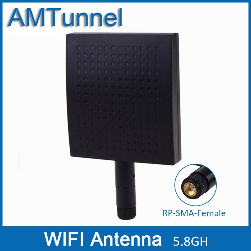 5.8GHz WiFi Antenna 5GHz Router Antenna 12dBi Outdoor Panel Antenna 5150-5825MHz RP-SMA Female Connector Wireless Antenna