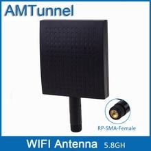 5,8 ГГц антенна Wi-Fi 5 маршрутизатор антенны 12dBi внешняя плоская антенна 5150-5825 MHz RP-SMA женский разъем антенны