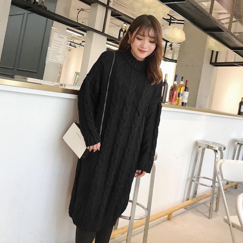 Grande taille/grande taille tricots 60-100 KG dame Midi automne hiver robe