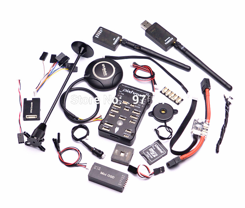 Pixhawk PX4 Autopilot PIX 2.4.8 Flight Controller Safety Switch Buzzer / 8N GPS / Mini OSD / I2C / PPM / 433Mhz 433 Telemetry gold plated socket pixhawk 2 4 7 flight controller