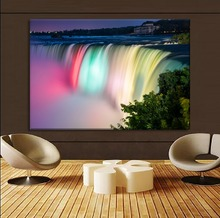 Top-Rated Canvas Print HD Picture Modern Wall Art Home Decorative 1 Panel Vibrant Colorful Canada Niagara Falls Painting neil sedaka niagara falls