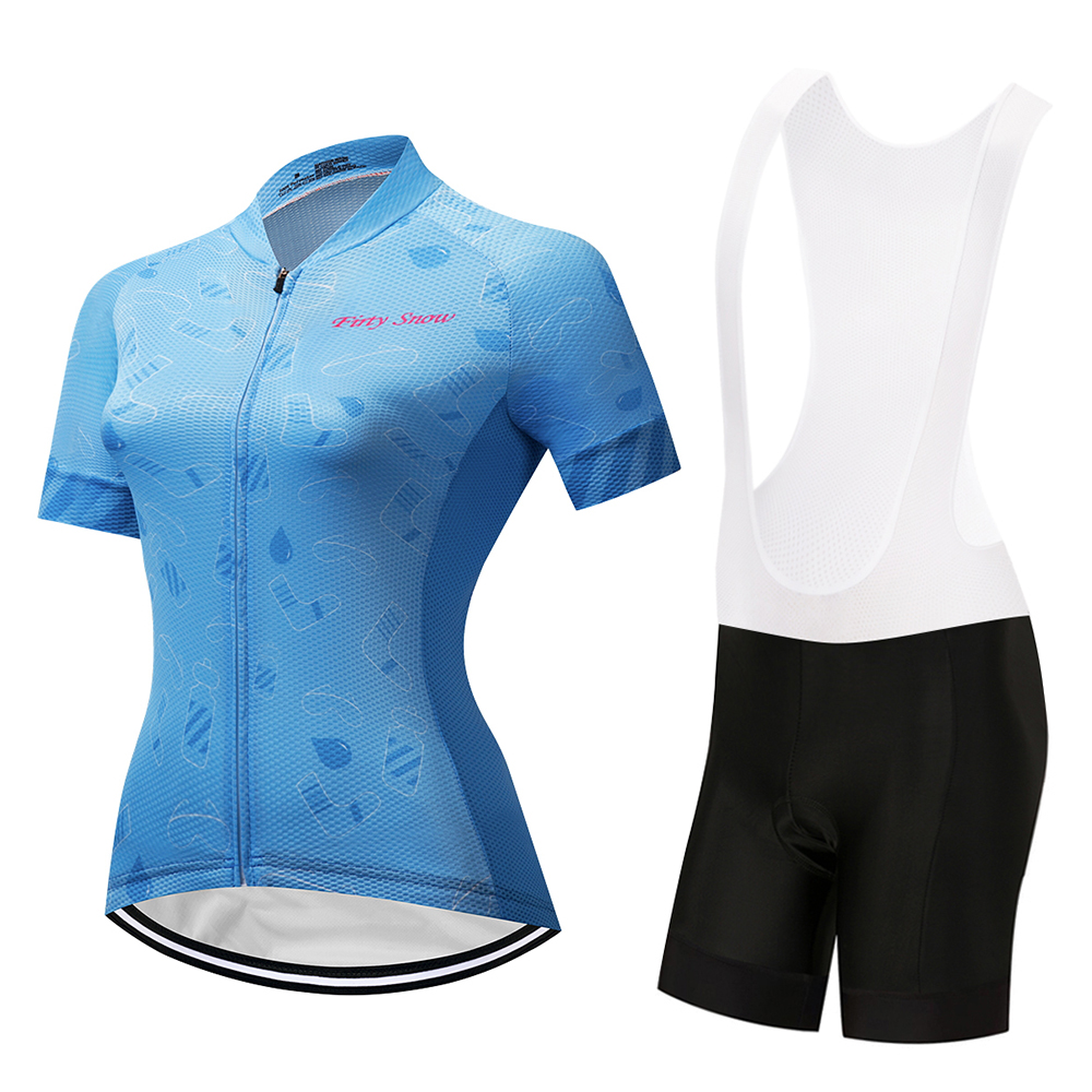 Firty sonw2018 Summer Women Cycling Jerseys Set Mountian Bike Clothing Racing Bicycle Clothes Ropa Ciclismo Girls Cycling Set