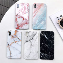 Phone Case For iphone 11 Pro XS Max X XR 7 8 6 6S Plus Luxury Marble Silicone Case Soft TPU Back Cover For iphone 8 7 Plus Funda(China)