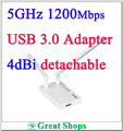 Totolink A2000UA 11ac 1200 mbps 5 ghz wifi adaptador USB 3.0 Wireless N Adaptador 802.11ac Dual Band Wi-fi sem fio
