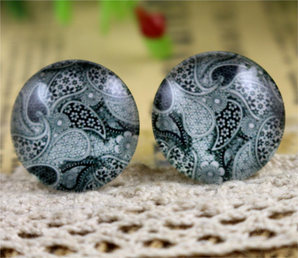 Hot Sale 10pcs 20mm Handmade Fashion Photo Glass Cabochons Pattern Domed Jewelry Accessories Supplies-H4-11