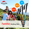 NatureHike Ultralight EVA Foam Handle 3 Section Adjustable Aluminum Alloy Canes Walking Sticks Hiking Trekking Camping