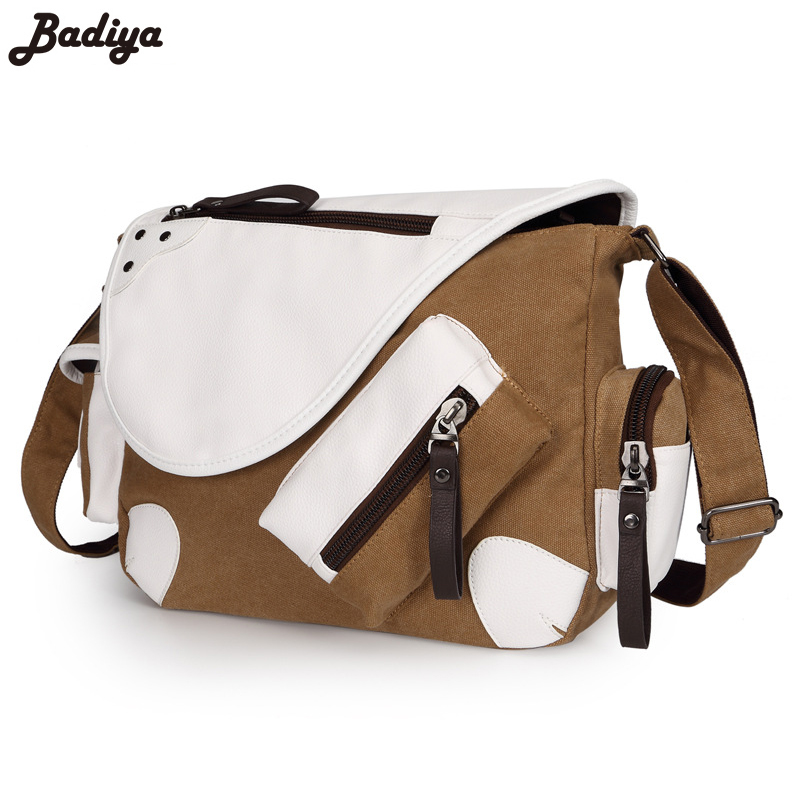 Men Brief Brand Canvas Multi-Pocket Crossbody Bags Casual Messenger Bag Large Capacity Travel Package With Shoulder Strap