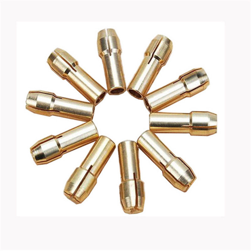 10 Pieces Mini Drill Brass Collet Chuck for Rotary Tool 0.5-3.2mm Hot Furniture Accessories wooeasy upgrade tin plated copper silver cable 2 5 3 5 4 4 balanced cable with mmcx 2pin jack for kz zs6 zs5 zst zs10 lz a5