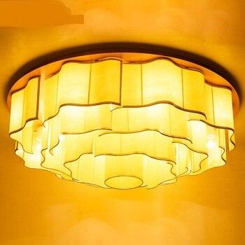 Çin tarzı yuvarlak tavan lambası oturma odası far klasik Otel yuvarlak retro restoran PVC otel tavan ışığı Z114724
