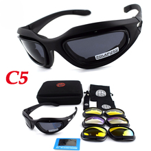 Tactical C5 Goggles Sport Polarized Sunglasses Shooting Safety Glasses Outdoor Hunting Airsoftsports Glasses Cycling Eyewear