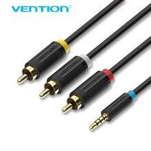 Аудиокабель адаптер vention 35 мм 3 rca 15 м/2 м