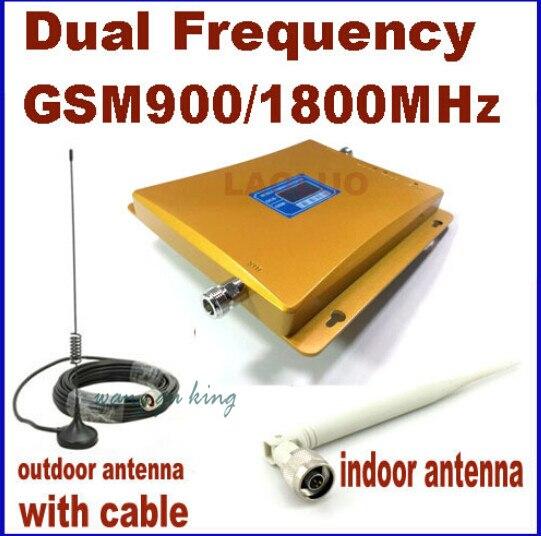 ЖК-дисплей дисплей Dual Band 2 г GSM 900 мГц DCS 1800 мГц репитер усилитель сигнала GSM DCS усилитель сотового телефона + anatenna 1 комплект