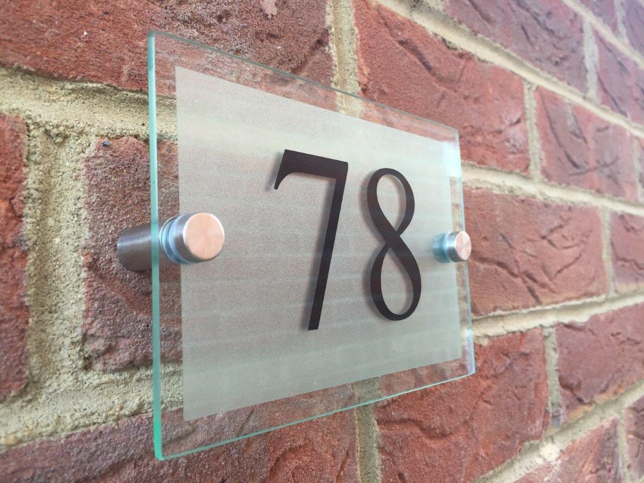 Customized Acrylic Door Number House Sign Street Address  200x140mm S16