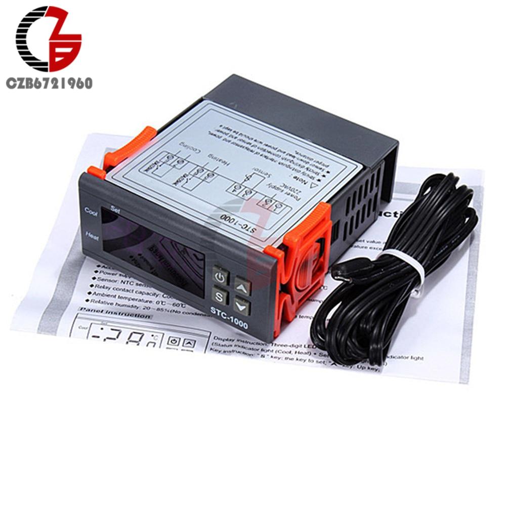 STC-1000 All-Purpose Digital Temperature Control Controller Sensor AC//DC 24V