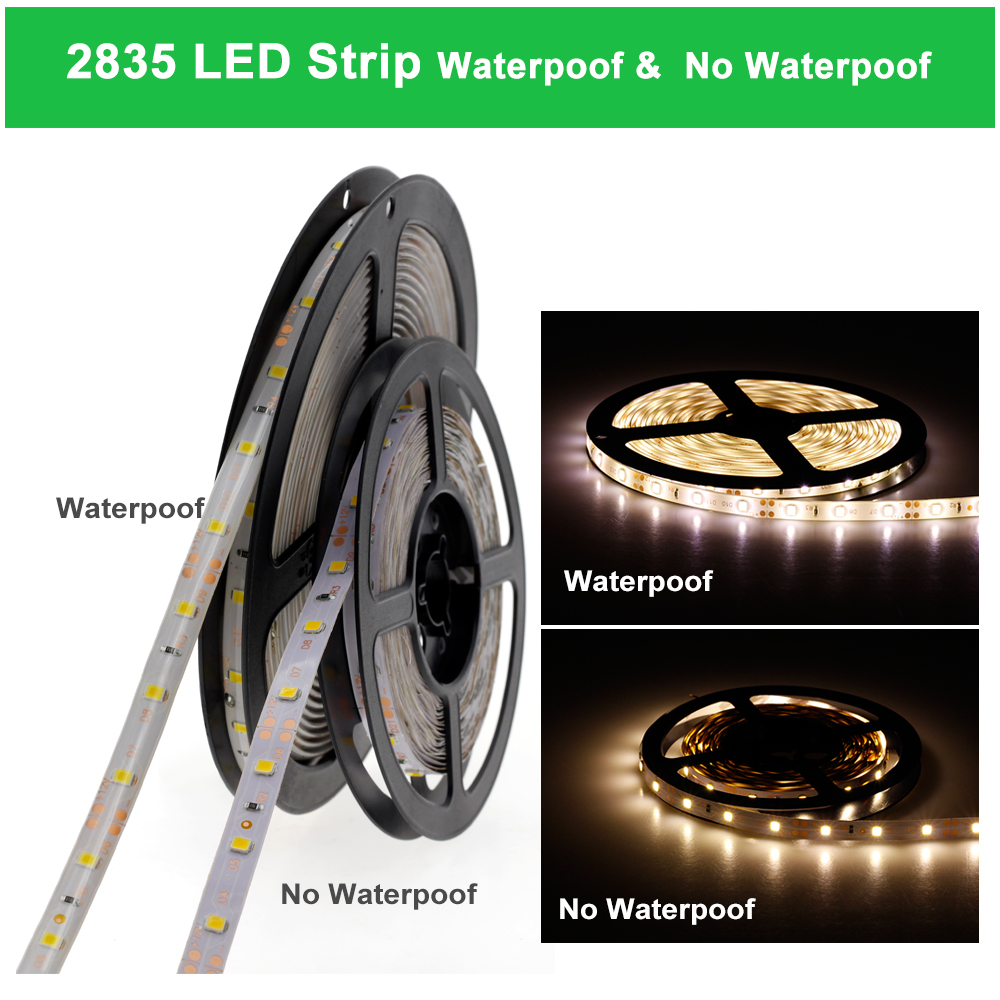 Image 5 - LED Strip 5050 2835 DC12V Flexible LED Light Tape Waterproof/No Waterproof 60 LEDs/m 5M 300 LEDs Warm White RGB LED Strip Lights-in LED Strips from Lights & Lighting
