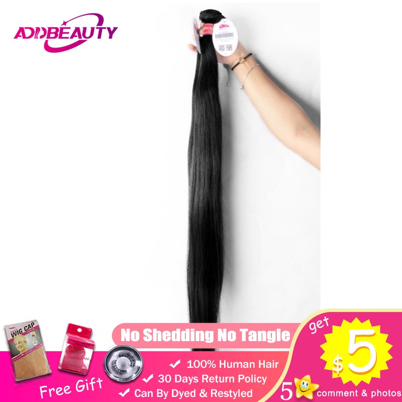 30 44 Inch Unprocessed Virgin Human Hair Extension 10A Double Drawn Brazilian Weave Bundles Straight Longer Length Natural Color(China)