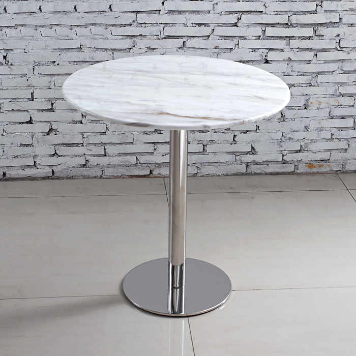 Gentil Simple Negotiation Table Front Desk Stainless Steel Small Round White Marble  Dining Table Sets Custom Coffee Tables In Nail Tables From Furniture On ...