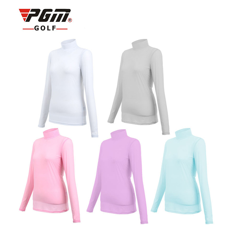 PGM Womens Golf Apparel Summer Outdoor Sport Clothing Viscose Shirt Underwear Golf Sunscreen UV Ice T-shirts Long Sleeve Clothes