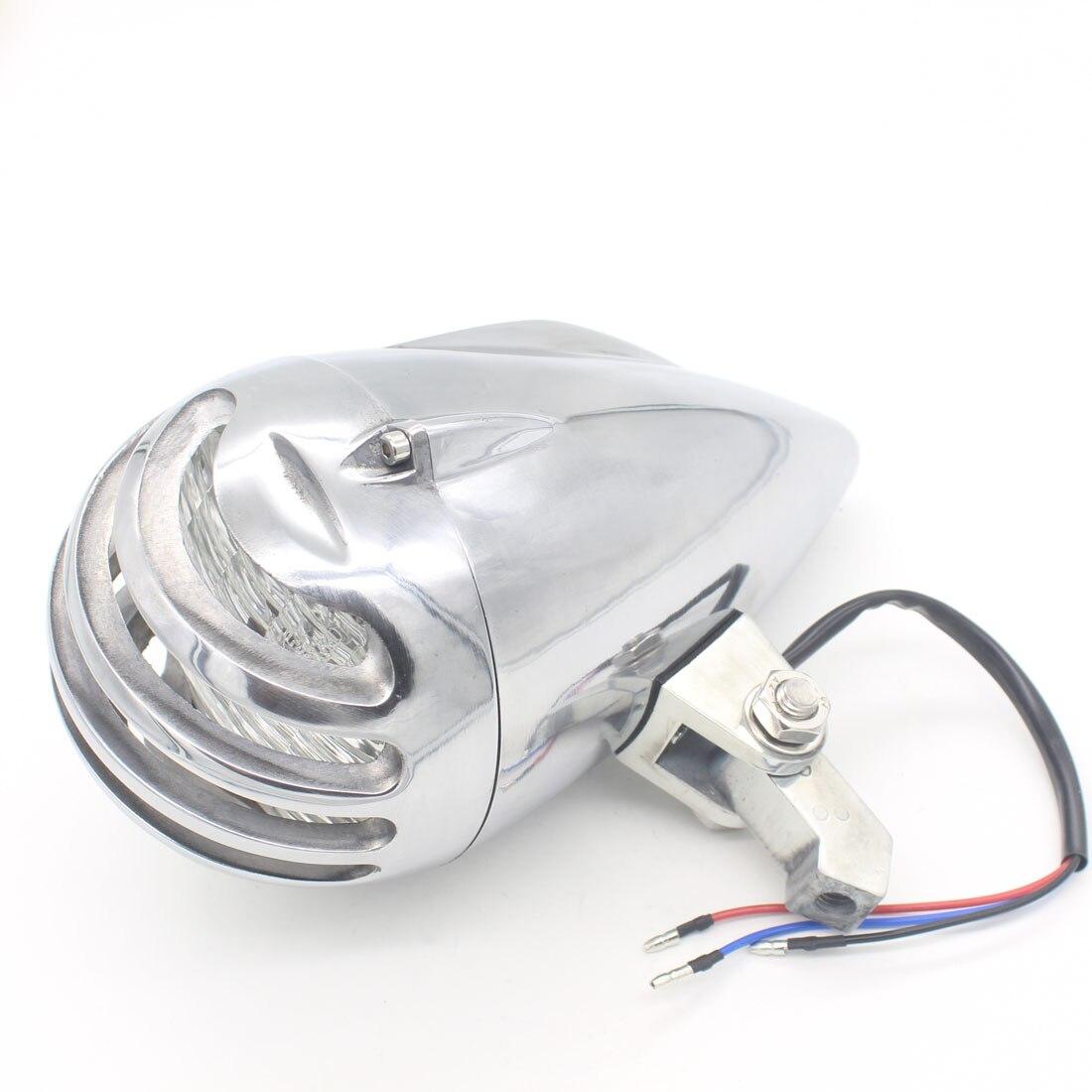 Dongzhen 1X Chrome Silver Bullet забор LED вождения мотоцикла свет фар Туман источник света ксеноновые универсальный, подходит для Harley