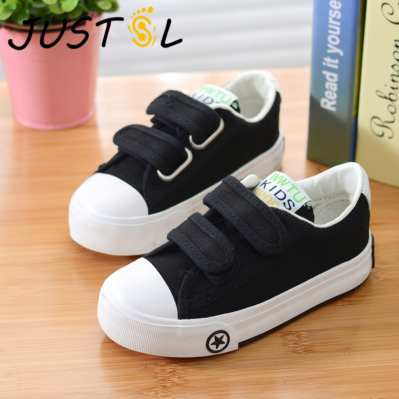 2018 Autumn Children Solid Color Casual Canvas Shoes Boys Girls Shoes Fashion Sneakers Outdoor Sports Shoes For Kids Size18-37
