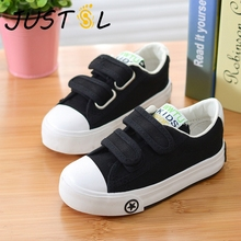 2018 Autumn Children Solid Color Casual Canvas Shoes Boys Gi