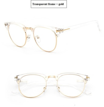 2018Half Metal Women Glasses Frame Men Eyeglasses Frame Vintage SquareClear Glasses Optical Spectacle Frame spectacles