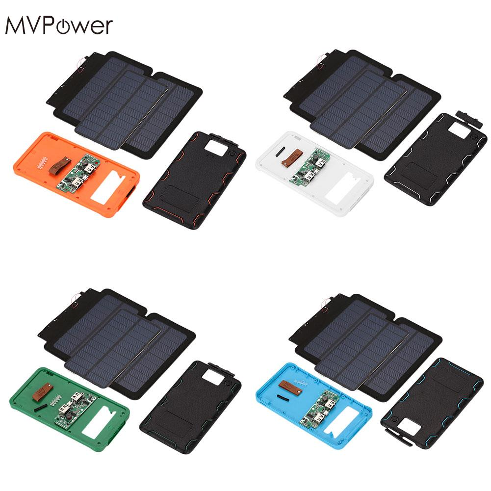 MVPower 5V Dual USB LED Foldable Sunpower Solar Power Panel Solar Panel For 606090 Battery DIY Home Camping ortable Charger